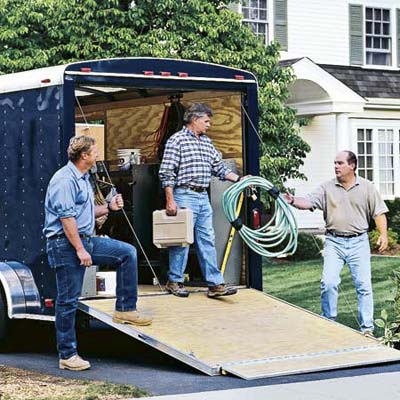 The Ask This Old House trailer with show guys, Roger Cook, Tom Silva and Richard Trethewey from the debut of Ask This Old House in 2002