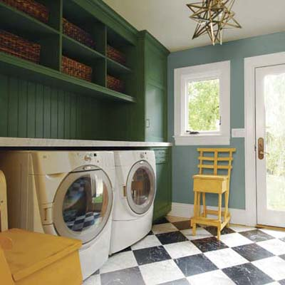 dressed-up laundry room look