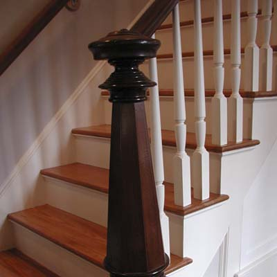 Staircase remodeled