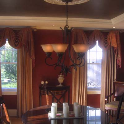 formal dining room ceiling after