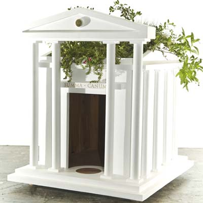 Greek Revival eco-friendly doghouse to be presented to Barack Obama