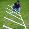 mark powers standing a length of weave bars on end