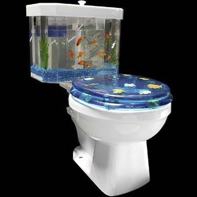Toilet tank 10 crazy aquariums this old house for Salt bath for fish