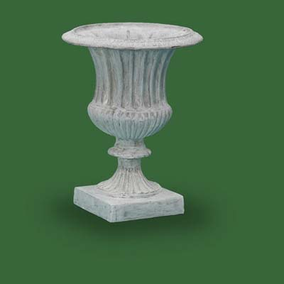 whitewashed urn by christianne
