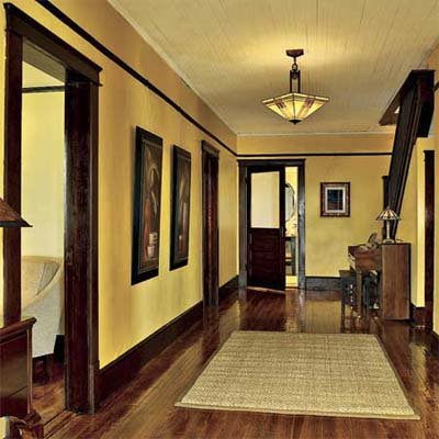 remodeled refinished and painted grand hallway