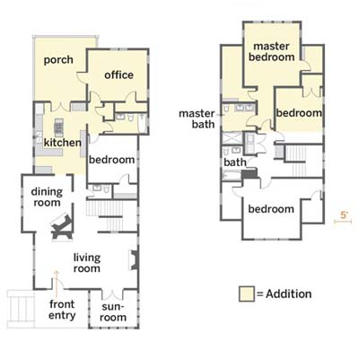 floor plans of the reader remodel