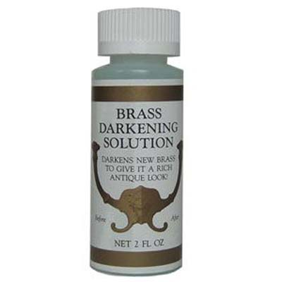 bottle of brass antiquing solution
