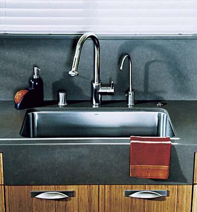 faux apron-front sink