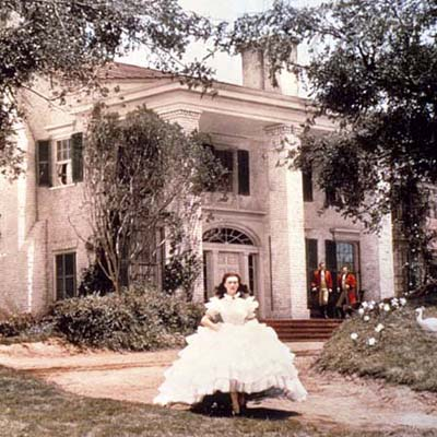 Home ownership lessons from Hollywood, exteriors, Greek Revival, Gone With the Wind
