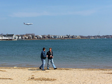 constitution beach landing plane