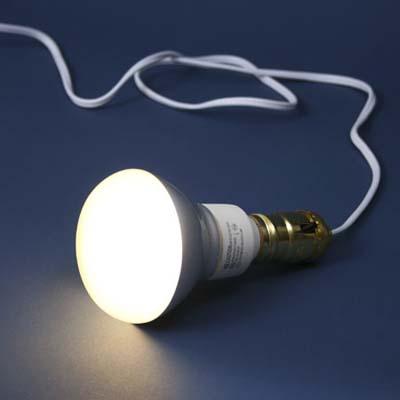 compact fluorescent lightbulbs for an exterior floodlight