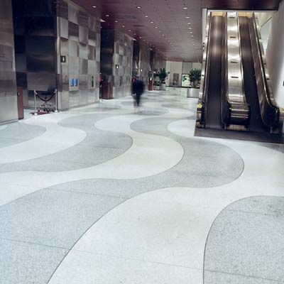 Terrazzo flooring at Time building
