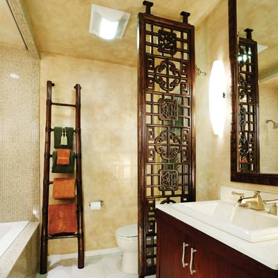 Eastern oasis 13 relaxing spa bath retreats this old house for Small bathroom zen design