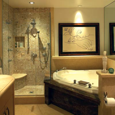 Reflective retreat 13 relaxing spa bath retreats this for Zen spa bathroom designs