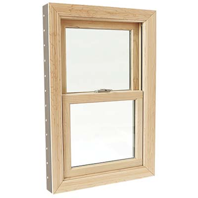example photo of a full frame wood window