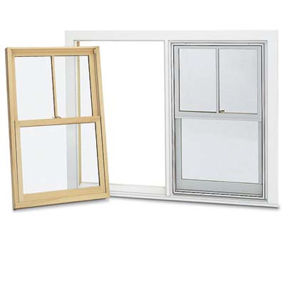 example photo of a replacement frame and sash set