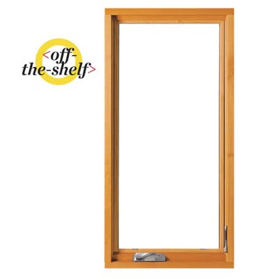 example of an off the shelf wood window for purchase