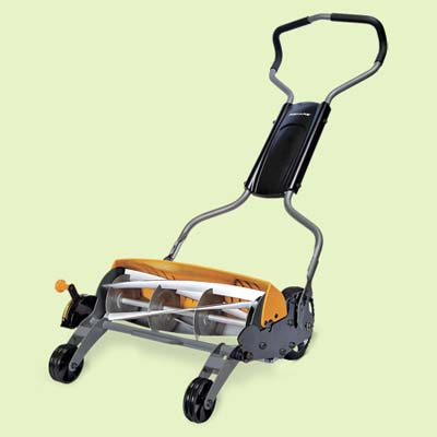 easy push reel lawn mower