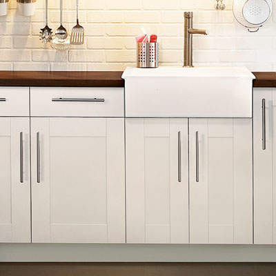 example of a stock kitchen cabinet