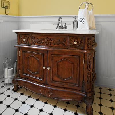 vintage looking bathroom vanity dresser