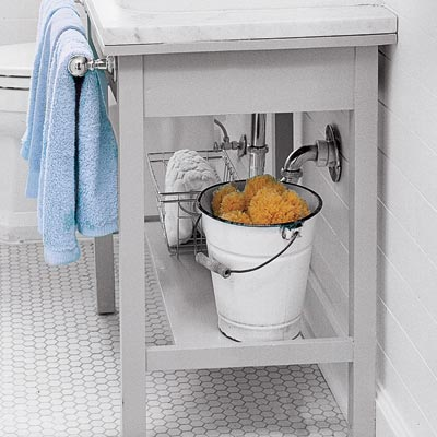 salvaged under sink storage