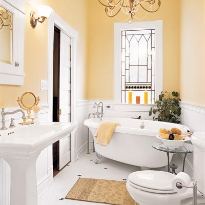 elegant bathroom with thrifty upgrades