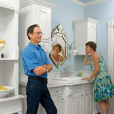 master bath remodel homeowners' Susan and Mark Nitchman