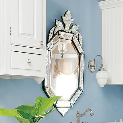 a Venetian-style etched-glass mirror