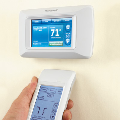 hand programming thermostat