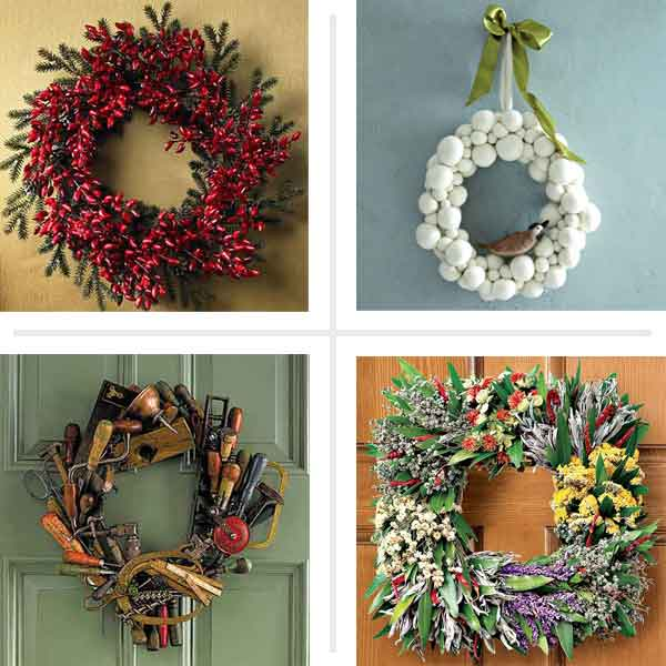 Ring in the holidays creative ideas for diy wreaths for Unique best out of waste ideas
