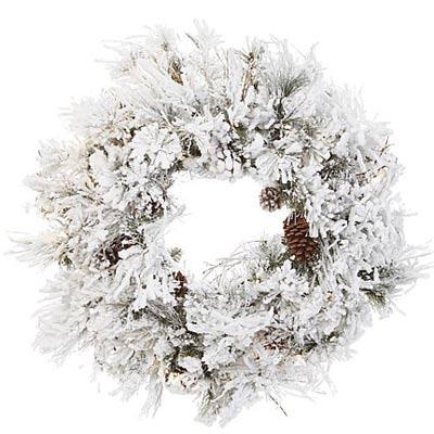 all-white wreath