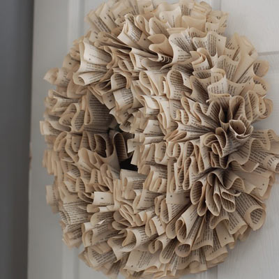magazine page wreath