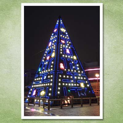 pac man christmas tree