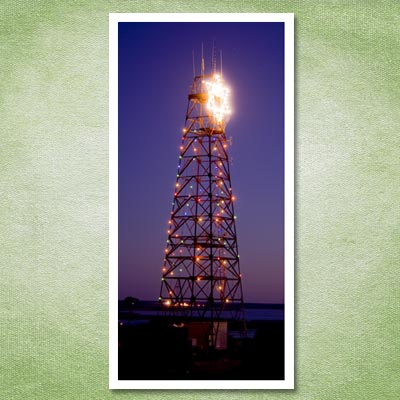 radio tower christmas tree