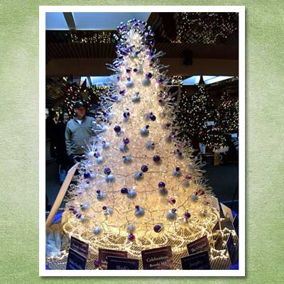 christmas tree made out of plastic silverware