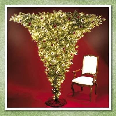 upside down christmas tree from hammacher schlemmer