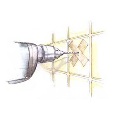 drilling through tile