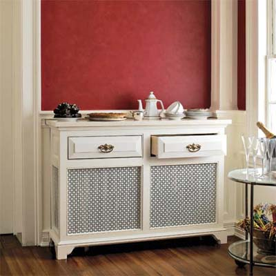 dining room radiator cover built out to a buffet server easy upgrade home solution
