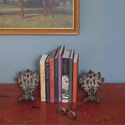 salvaged claw feet used as bookends