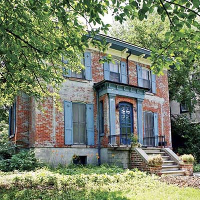 decaying brick italianate from detroit michigan's best old house neighborhood