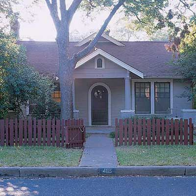 outdated bungalow house