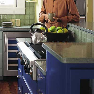 kitchen countertops made from recycled materials