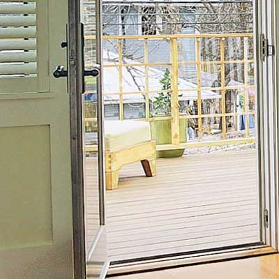 bedroom door to outdoor deck