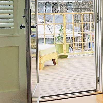 bedroom door to outdoor deck