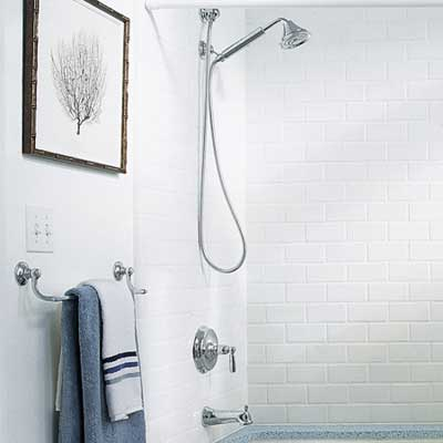 water conserving showerhead and faucet