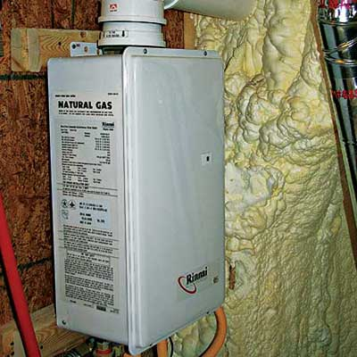 gas-powered water heater