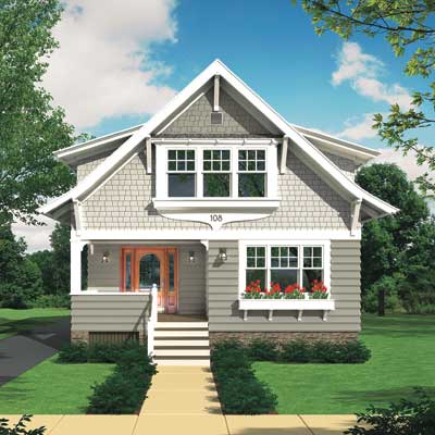 a Photoshop rendering of a cottage exterior redesign