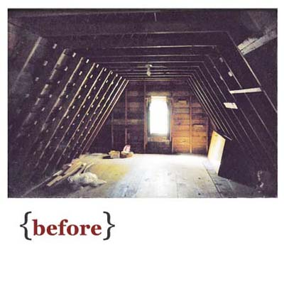 raw attic before remodel
