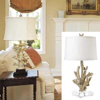 coral lamp updates colonial living room