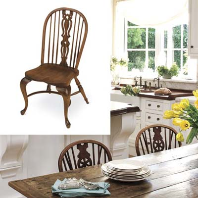English-style oak kitchen chair